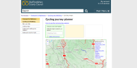 Staffordshire cycle journey planner